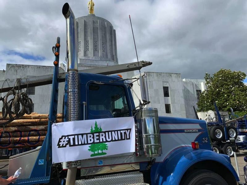 COURTESY PHOTO - A June 27 Capital rally by members of Timber Unity helped cement the end of a cap-and-trade bill opposed by rural constituents. Representatives of the group will visit the White House July 8.