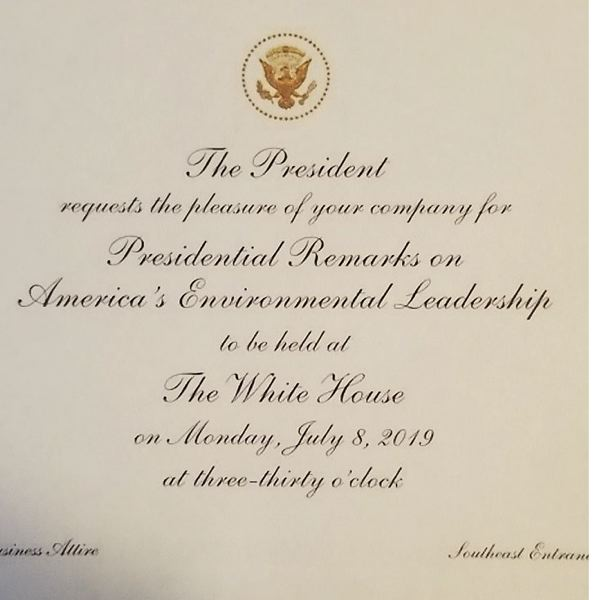 COURTESY PHOTO - A White House invitation was posted on the Timber Unity Facebook page.