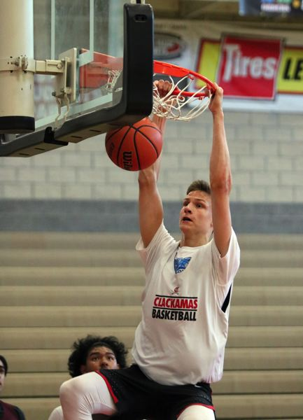 PMG PHOTO: JIM BESEDA - Ben Gregg averaged 23 points and 14 rebounds as a sophomore last season, leading Columbia Christian to a 26-2 record and a berth in the OSAA Class 2A boys basketball championship game.