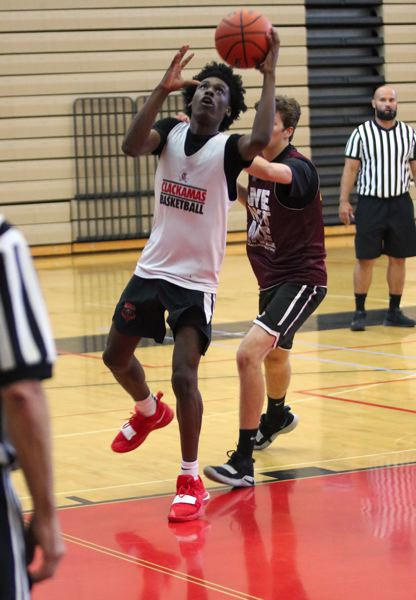 PMG PHOTO: JIM BESEDA - Damontae Burns played two seasons at Class 5A Parkrose before deciding to transfer to Clackamas along with Ben Gregg, his teammate with the Rose City Rebels AAU team.