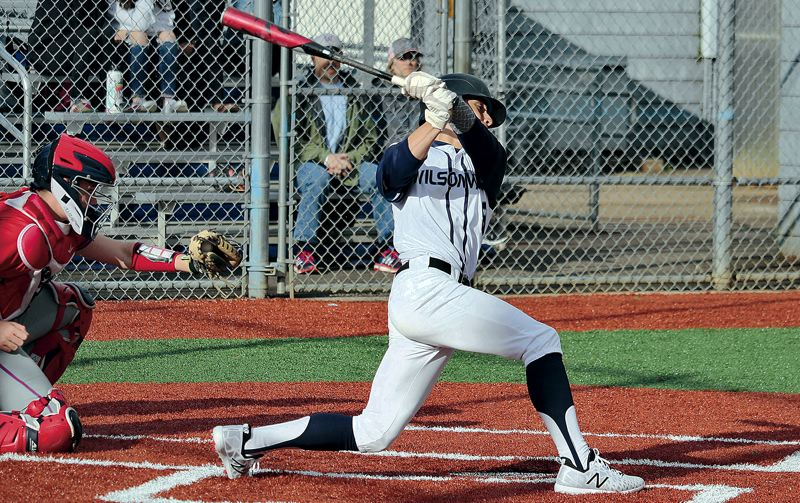 PMG PHOTO: JIM BESEDA - Wilsonville junior outfielder Cole Kleckner was one of three Wildcats named to the Class 5A all-state baseball team following the 2019 spring season.