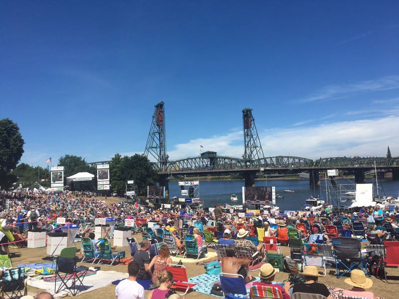 FILE PHOTO - The warm weather brought out many festivalgoers for the first day of the Waterfront Blues Festival in 2016.