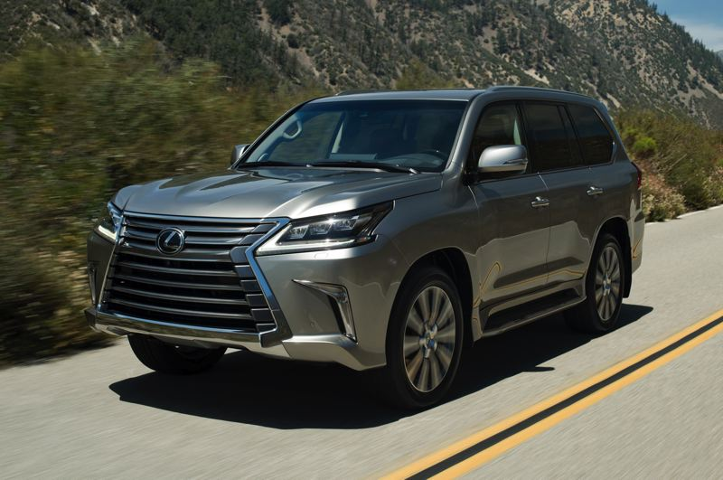 COURTESY TOYOTA MOTOR SALES - The 2019 Lexus LX570 is equally comfortable on and off the road, thanks to its Toyota Land Cruiser heritage.