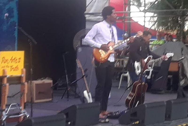 PMG PHOTO - Ron Artis II performs with his band The Truth at the 32nd annual Waterfront Blues Festival on Thursday, July 4.