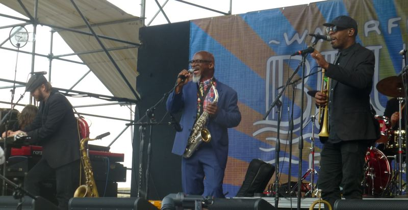 PMG PHOTO: SHANNON O. WELLS - Karl Denson's Tiny Universe wowed the Blues Fest crowd on Friday evening, July 5.