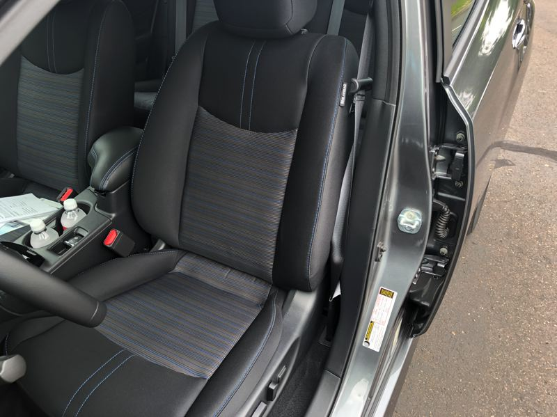 PMG PICTURE: JEFF ZURSCHMEIDE - The front seats of the 2019 Nissan Leaf Plus are comfortable enough for long trips.