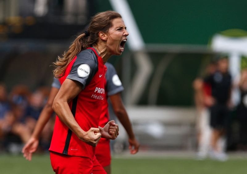 PMG FILE PHOTO: JONATHAN HOUSE - Tobin Heath has been a star for both the Portland Thorns and the United States, which capped its 2019 Women's World Cup run with a 2-0 finals victory over the Netherlands on Sunday.