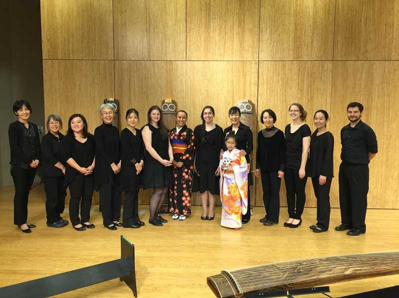 COURTESY PHOTO: OREGON KOTO-KAI - The musical troupe Oregon Koto-Kai, pictured here, will perform at Fox Park on Tuesday, July 9 at 7 p.m. They specialize in traditional Japanese music around the sound of the koto, or the Japanese Harp.
