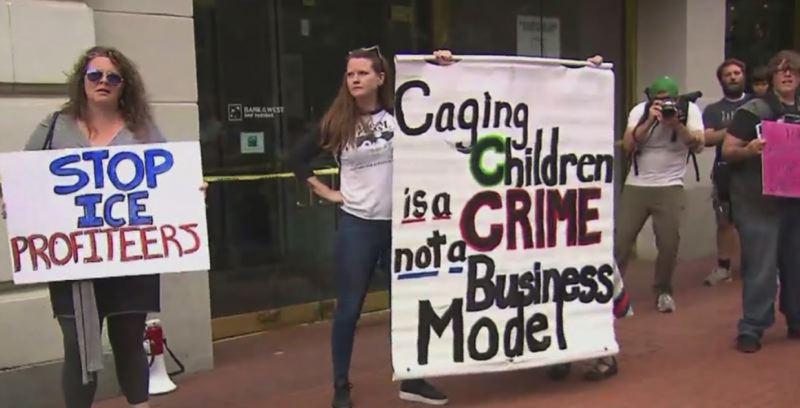 KOIN 6 NEWS - Protesters began to target businesses that work with ICE on Monday, July 8, in Portland.