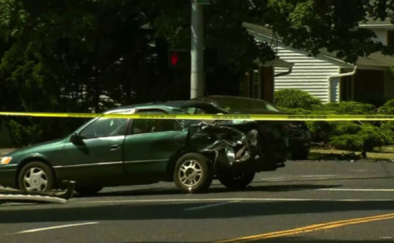 KOIN 6 NEWS IMAGE - The aftermath of a fatal hit-and-run crash is shown here on Southeast Powell Boulevard.