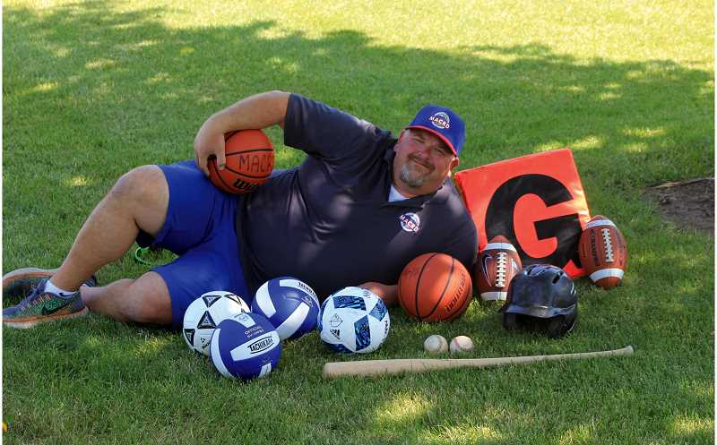 STEELE HAUGEN - Since Gregg Markwardt, age 39, started as the Madras Aquatic Center's recreation director in 2015 there has been a total of 2,430 kids participating in youth recreation sports. The program has included the start of flag football, tackle football, fall soccer, club volleyball, baseball, and adult basketball.