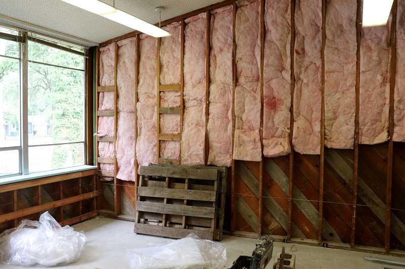 COURTESY PHOTO: ANDREW KILSTROM - The remodeling of Bolton Primary's new music room is well underway.