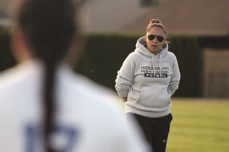 PMG PHOTO: PHIL HAWKINS - Mayra Vazquez serves a variety of roles in the Woodburn soccer community — Woodburn FC Co-Founder and Co-President, head coach of the GU15 Lightning girls club team and Woodburn High School junior varsity head coach.