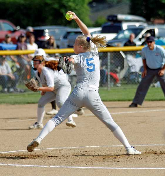 PMG PHOTO: WADE EVANSON - Hillsboro's McKenzie Staub shared the NWOC Pitcher of the Year and was a first team all-state selection.