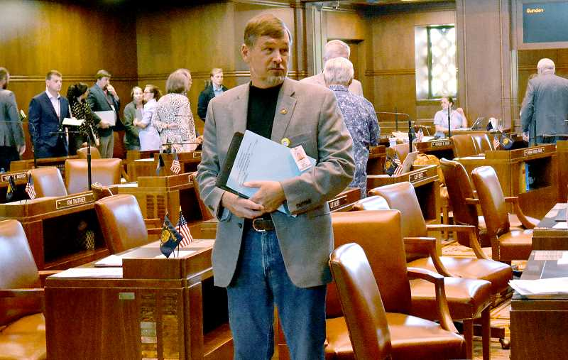 PMG FILE PHOTO - Sen. Brian Boquist, R-Dallas, will have to give 12 hours notice before coming to the Oregon State Capitol. The unusual requirement comes after Boquist threatened state troopers and the president of the Senate last month.