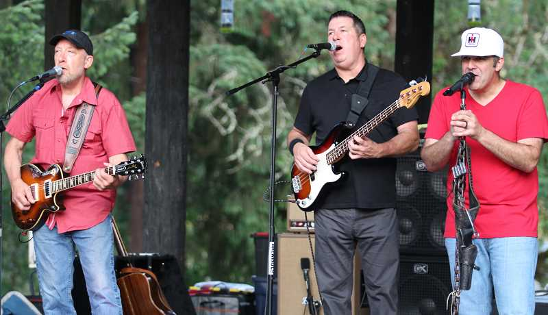 PMG PHOTO: BRIAN MONIHAN -  Country band Deadbeat Dixie rocked Willamette Park.