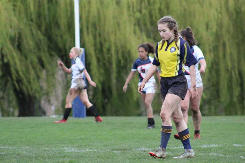 COURTESY PHOTO: MAREN GINGERICH - Maren Gingerich not only participated in wrestling, but also rugby, another OSAA sport.
