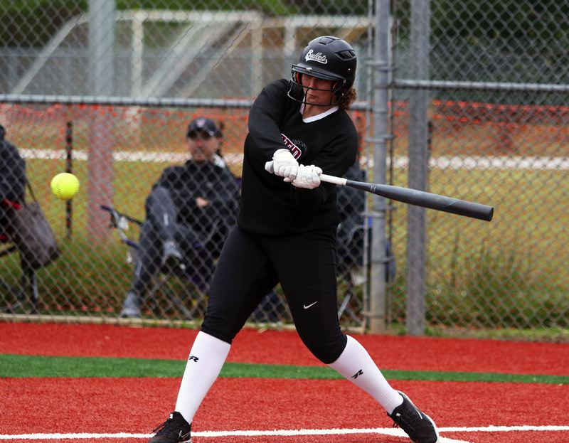 PMG PHOTO: DAN BROOD - Emily Johansen, a 2019 Tualatin High School graduate, was a Class 6A first-team All-State pick as an infielder.