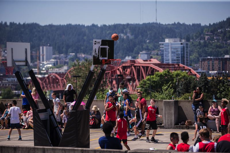 COURTESY PHOTO: PORTLAND TRAIL BLAZERS - The Trail Blazers will play host to a 3-on-3 basketball tournament at the Rose Quarter on July 27-28.