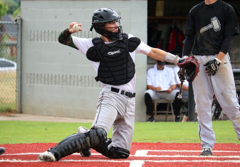 PMG PHOTO: JIM BESEDA - Oregon Citys Ashton Stalheim batted .324 and was named to the all-Three Rivers League second team after the Pioneers went 8-18 overall, 3-15 in conference play.