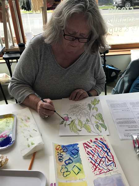 COURTESY PHOTO - Higgins offers both youth and adult watercolor painting classes where attendees can learn the basics or hone their skills on more complex projects.
