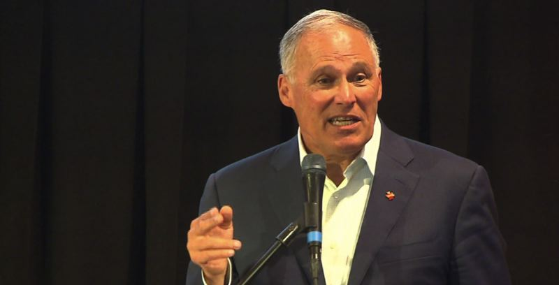 KOIN 6 NEWS - Washington Gov. Jay Inslee spoke in Portland about climate and his presidential bid recently.