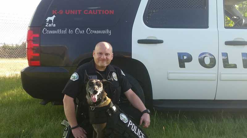 COURTESY OF HUBBARD POLICE - Hubbard Police Officer Glen Bentley and his K-9 partner Zafa will represent the community as the parade's Grand Marshal.