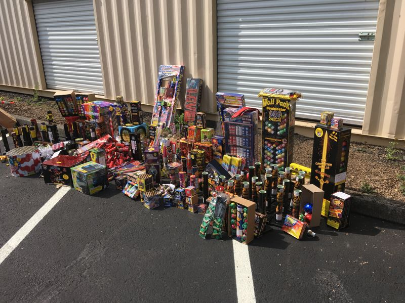 COURTESY PHOTO: GRESHAM POLICE DEPARTMENT - Gresham officers seized more than 1,000 fireworks and issued 34 citations during the Fourth of July this year.