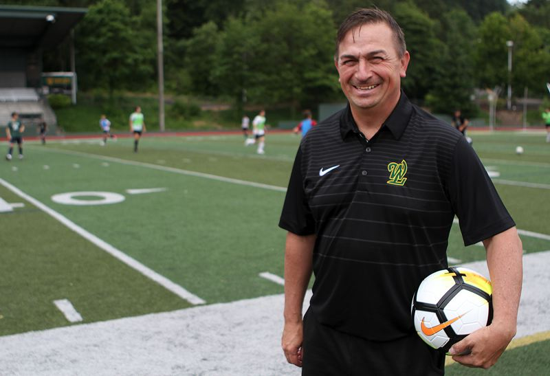 PMG PHOTO: MILES VANCE - Steve Ancheta was hired in May as West Linn's new varsity boys soccer head coach; most recently, he served as head women's coach at Western Oregon University.