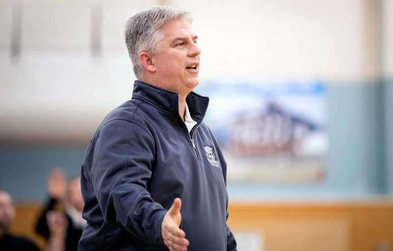 PMG FILE PHOTO - Wilsonville boys basketball coach Chris Roche has mixed views of OSAA adding a shot clock.