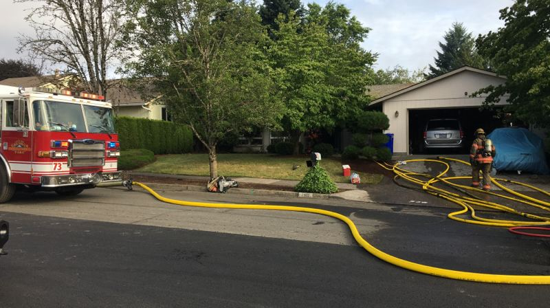 KOIN 6 - A grandmother and two children were pulled out of a burning home in Gresham on Friday, July 12.