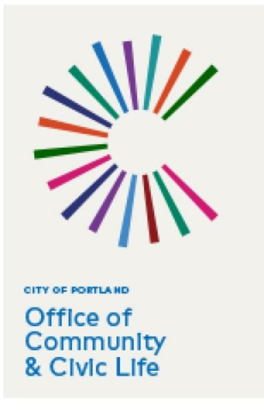 CITY OF PORTLAND - Office of Community & Civic Life logo.