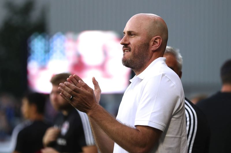 PMG PHOTO: JAIME VALDEZ - Colorado Rapids interim coach Conor Casey urges on his team in a 2-2 draw with the Portland Timbers.