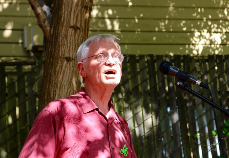 PMG PHOTO: ZANE SPARLING - Rep. Earl Blumenauer, D-Oregon, held a rally at the Oregon chapter of the Sierra Club on Sunday, July 14.