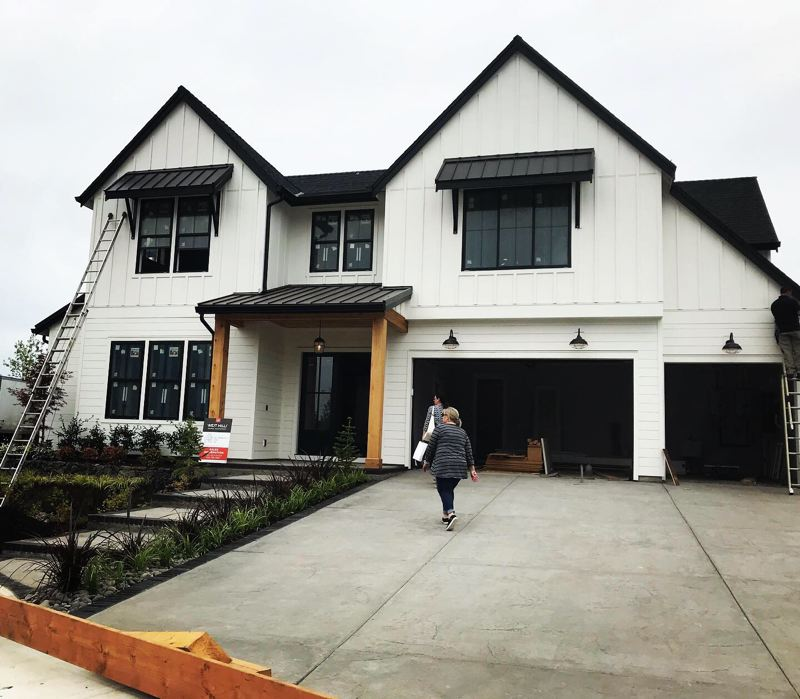 COURTESY: LISA BALMES - The finishing touches are going on the six homes featured in this years NW Natural Street of Dreams. The Meadow is 4,147 square feet with five bedrooms and four and a half bathrooms.