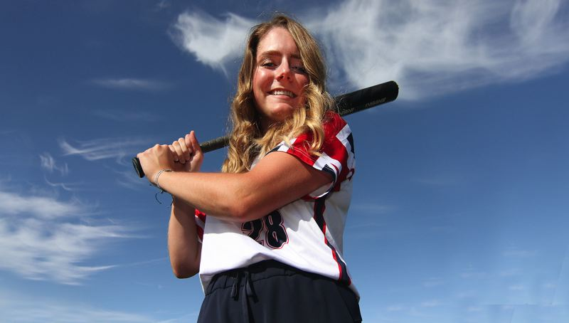 PMG PHOTO: MILES VANCE - West Linn's Lexi Grein just finished a week playing for the Great Britain U22 national softball team in the Canada Cup tournament.