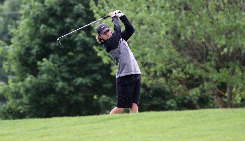 PMG PHOTO: MILES VANCE - Lake Oswego resident Aaron Buck (here playing for Lakeridge at the Class 6A state tournament) is heaaded to the Optimist International Junior Golf Championship at the end of July.