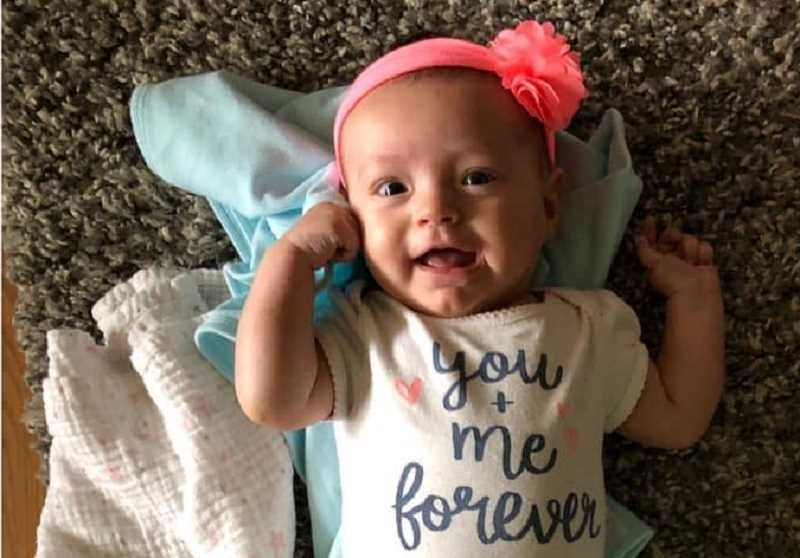 PHOTO COURTESY OF PRINEVILLE POLICE DEPARTMENT - Bristol Hagen, who is 3 months old, was diagnosed with acute myeloid leukemia on July 1.