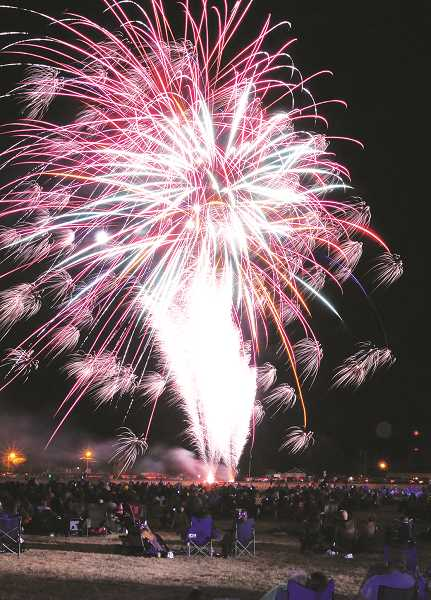 GRAPHIC FILE PHOTO - The festival's fireworks show draws thousands to Renne Field every year.