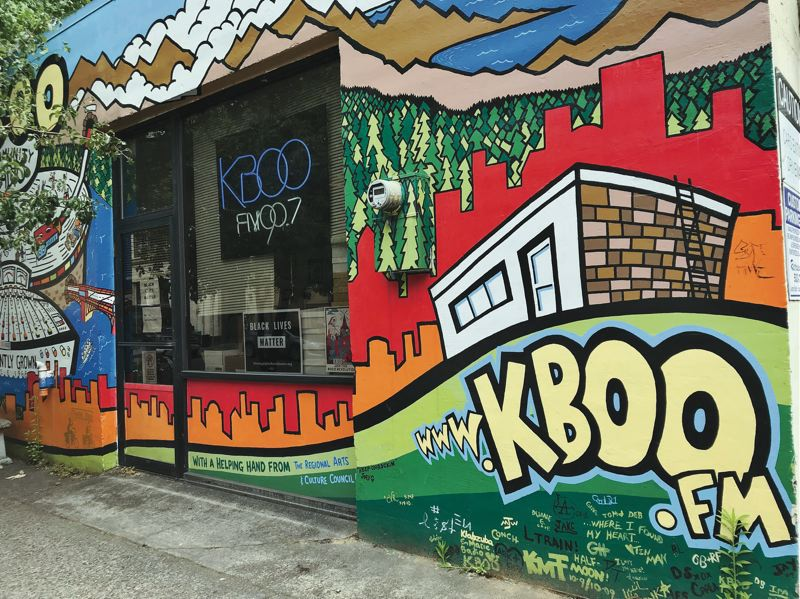 PMG FILE PHOTO - The mural around the front door of the KBOO station in Southeast Portland, where strife has resurfaced.