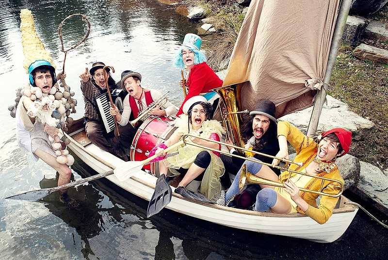 SUBMITED PHOTO - 'Floatsam! River Circus' bills itself as a troupe of musicians, circus performers and puppeteers.