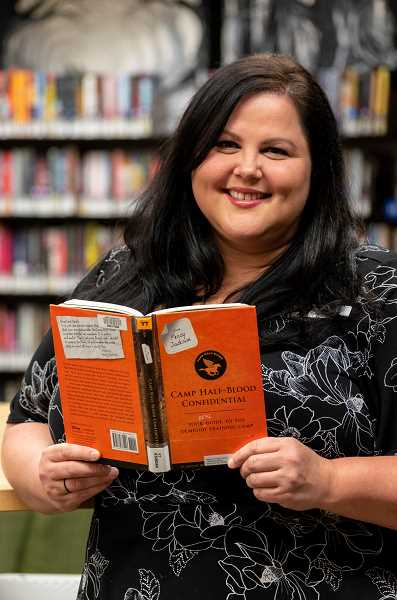 PMG PHOTO: CLARA HOWELL  - Rebecca Mayer with the West Linn Library is helping organize Camp Half Blood at Hammerle Park July 24.