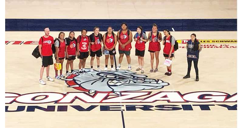 SUBMITTED PHOTO - The Madras girls basketball program recently returned from a Gonzaga University team camp, in Spokane, July 5-7.