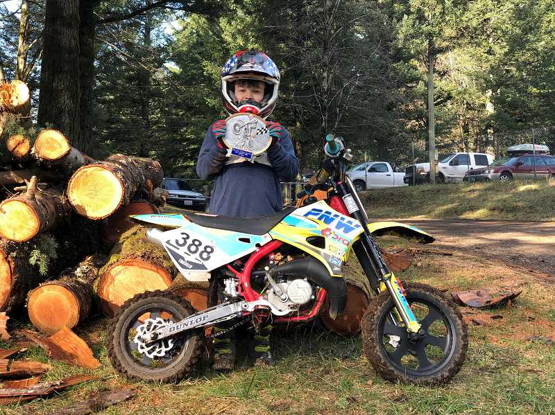 COURTESY PHOTO - Parker Trujillo, 9, is one of 42 competitors his age that will race in the upcoming  Rocky Mountain TV/MC AMA Amateur National Motocross Championship in Hurricane Mills, Tenn.