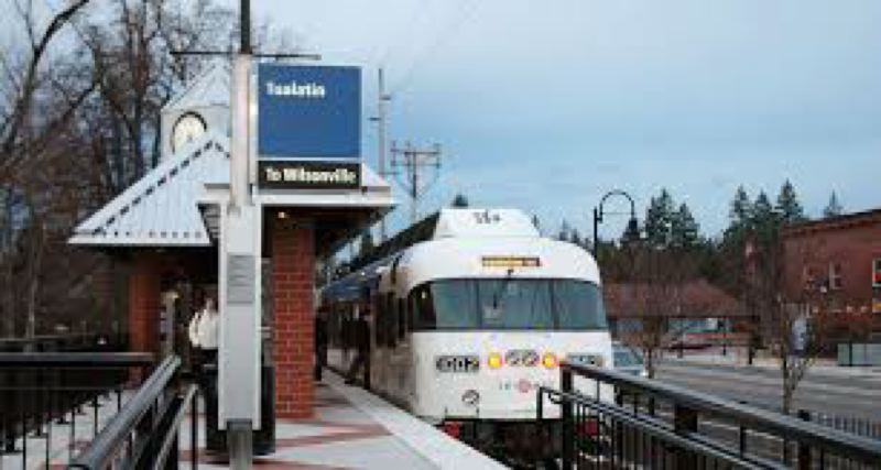 COURTESY TRIMET - A WES commuter train at a station.