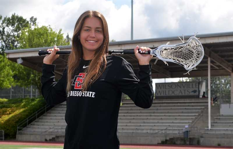 PMG PHOTO: DEREK WILEY - Wilsonville rising senior Brooklyne Waddell, a First Team all-league and all-state selection in 2019, has committed to play lacrosse at San Diego State University.