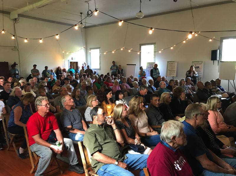 COURTESY PHOTO: PORTLAND WATER BUREAU - Boring-area residents aired several concerns over communication tactics and proposed aspects of a proposed Portland Water Bureau filtration plant on Carpenter Lane at an information session on June 24.