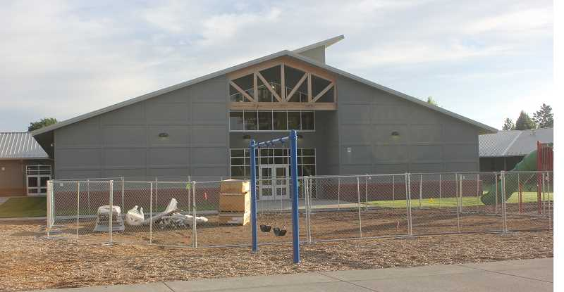 DESIREE BERGSTROM/MADRAS PIONEER - Now that the wooden structure has been removed, the site has been prepped for installation of the new structure, set to begin this week.