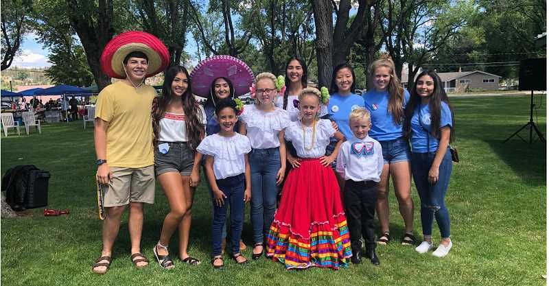 SUBMITTED PHOTO - Back row Key Club Members, from left to right, include Grayson Dominguez, Kelsey Olivera, Natalie Ramos, Erika Olivera, Kelly Huang, Hannah Holliday, Lilly Hernandez.