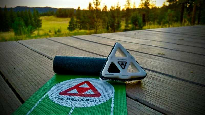 COURTESY PHOTO: KELLIE POULSEN-GRILL - Wilsonville resident Dave Grill invented the Delta Putt and Delta Dueler to help golfers with the most important part of their game — putting.